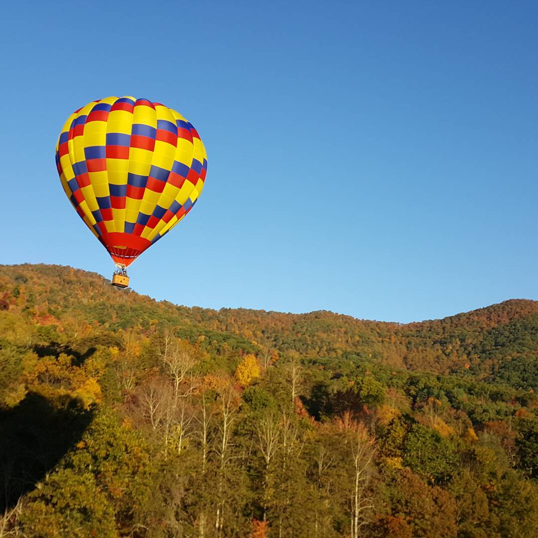 Asheville Things To Do - Asheville Hot Air Balloons - Original Photo