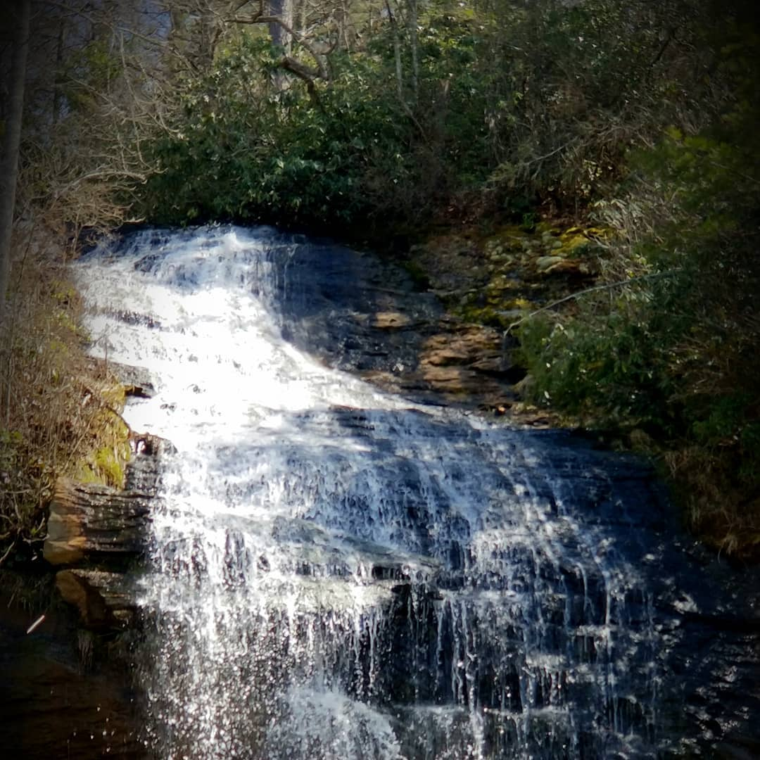 Asheville Hikes - Bridal Veil Falls - Original Photo