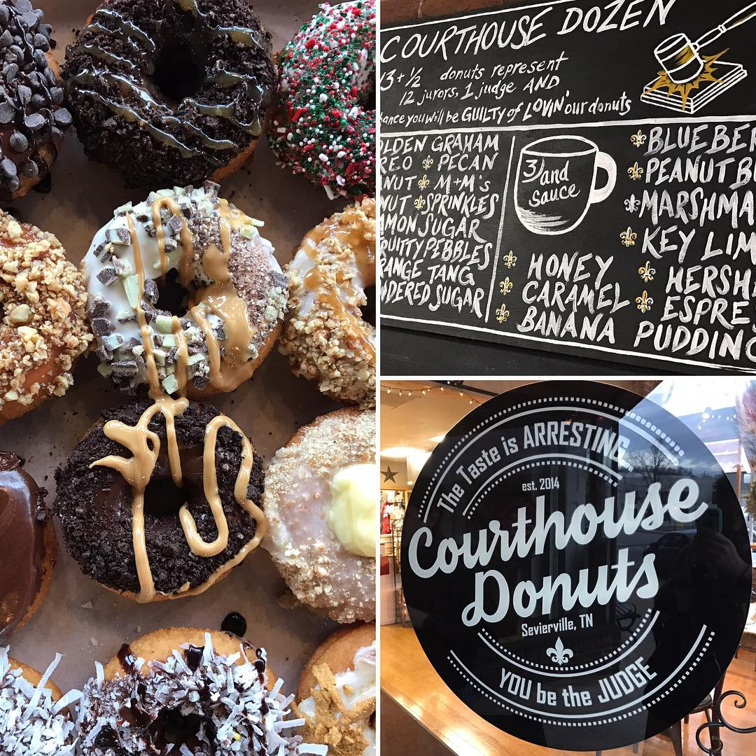 Sevierville Restaurants - Courthouse Donuts - Original Photo