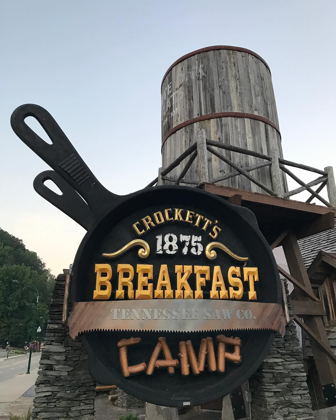 Gatlinburg Restaurants - Crockett's 1875 Breakfast Camp - Original Photo