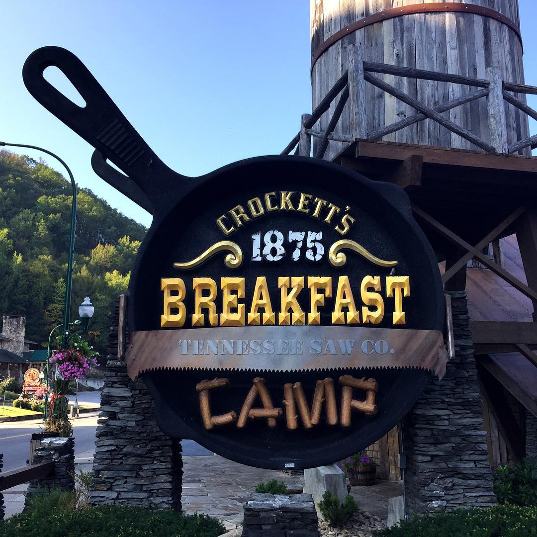 Gatlinburg Restaurants Crockett S 1875 Breakfast Camp Original Photo