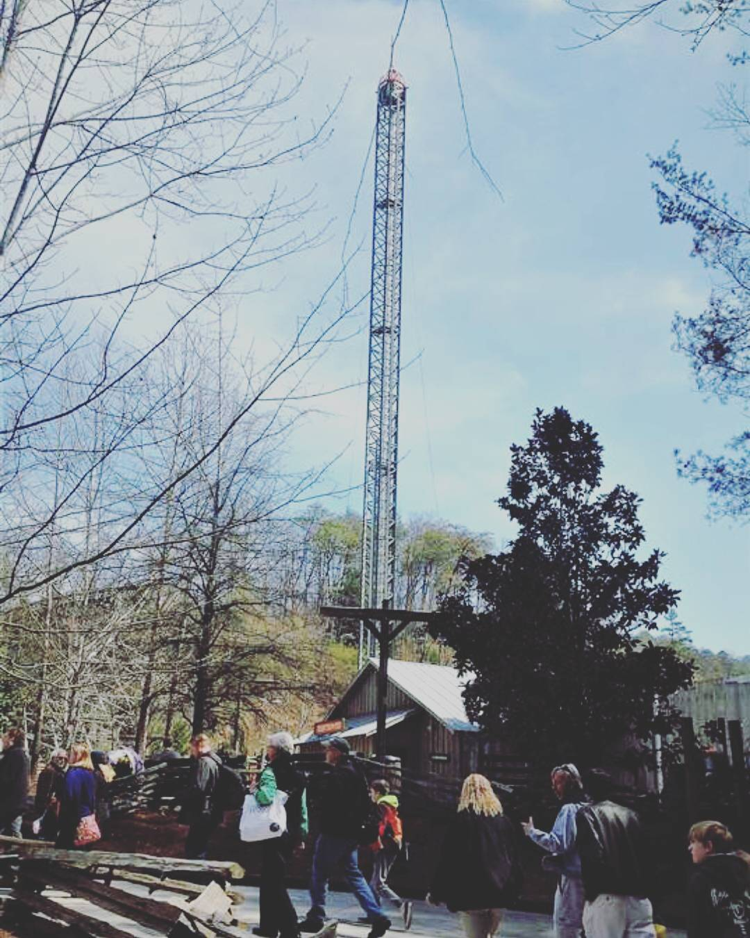 Dollywood Rides - Drop Line Drop Tower - Original Photo