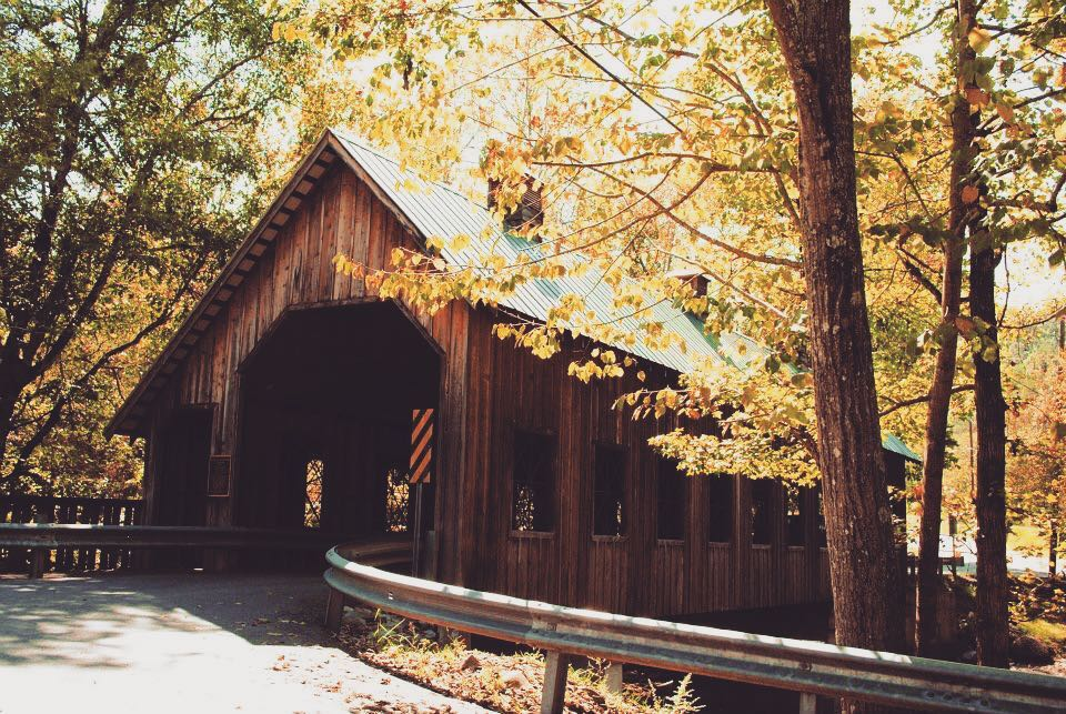 Gatlinburg Things To Do - Emerts Cove Covered Bridge - Original Photo