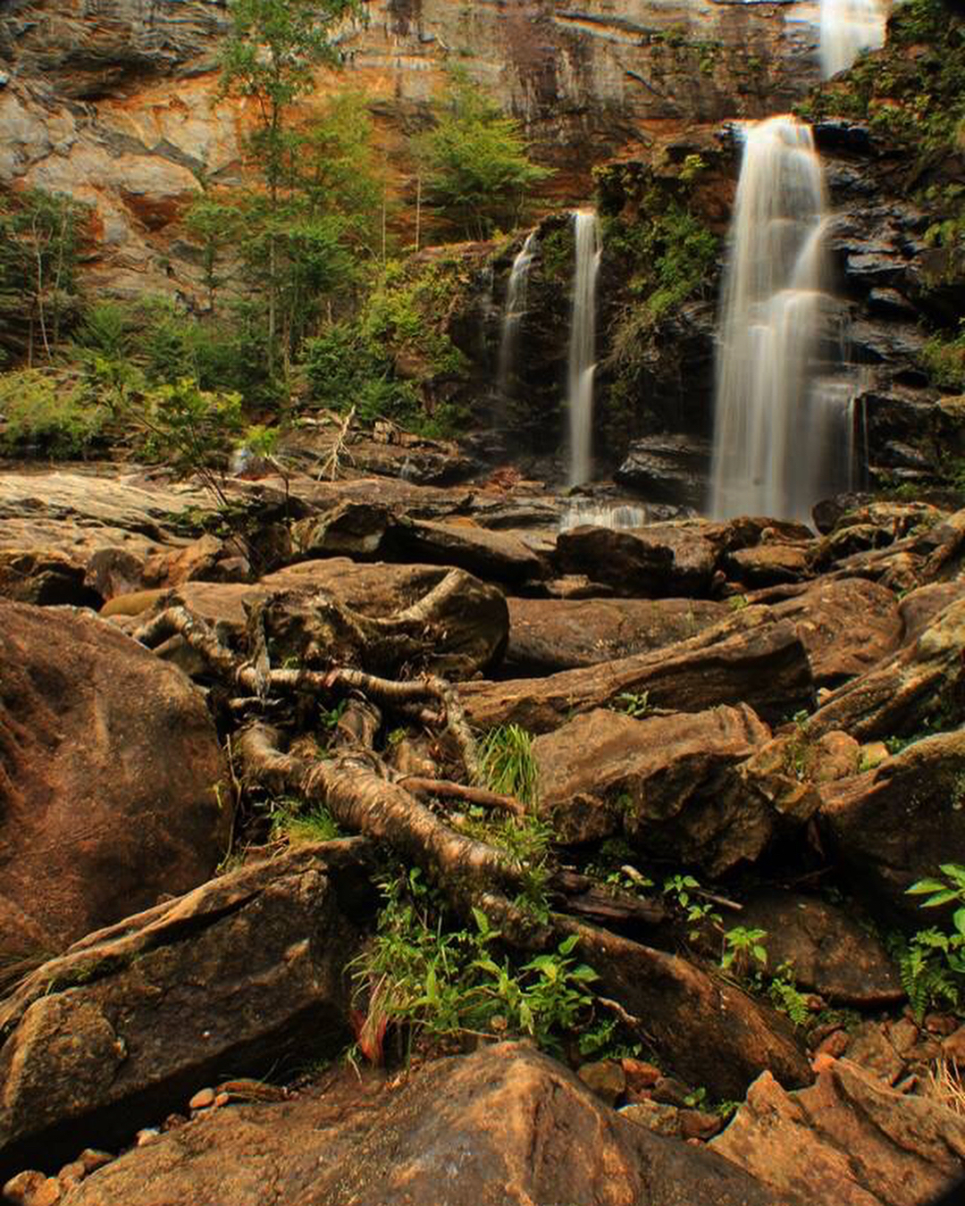 Asheville Hikes - High Falls Trail at Lake Glenville - Original Photo