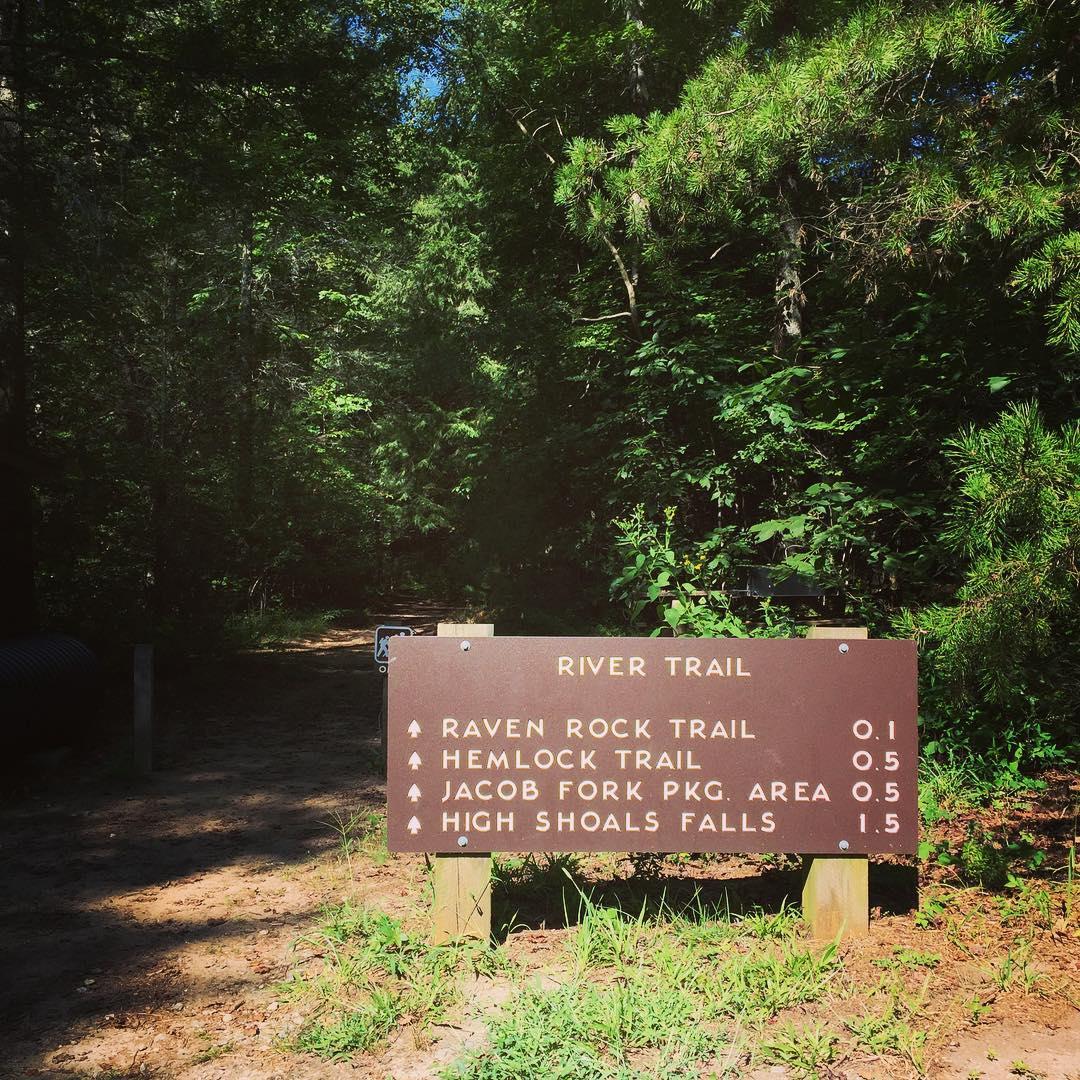Asheville Hikes - High Shoals Falls - Original Photo