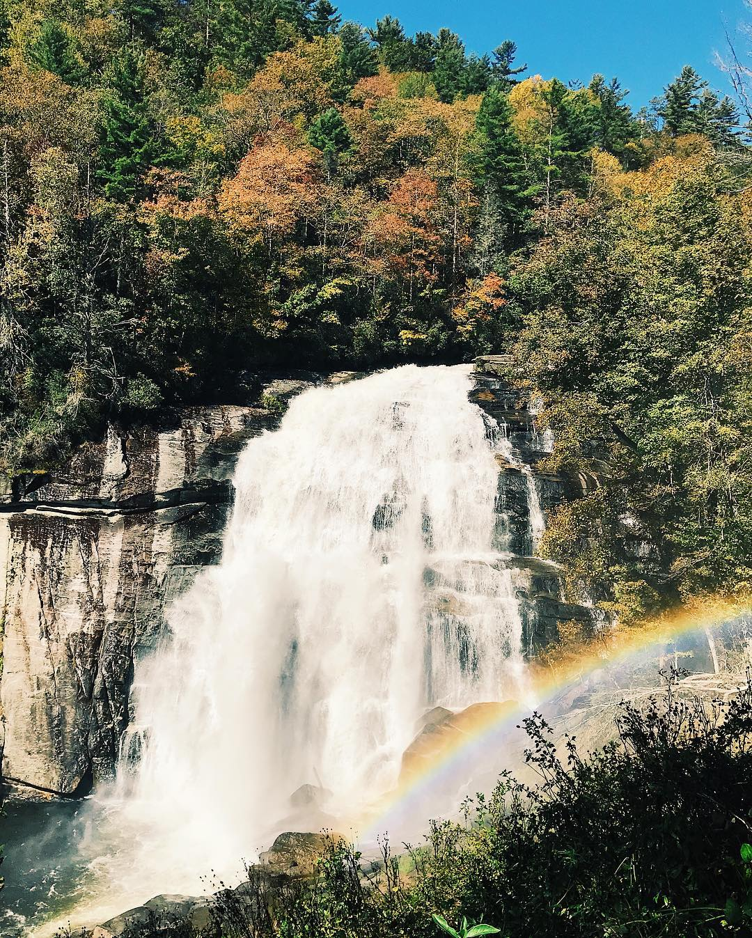 Asheville Hikes - Rainbow Falls at Gorges State Park - Original Photo