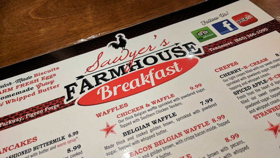 Sawyer's Farmhouse Breakfast Restaurant in Pigeon Forge