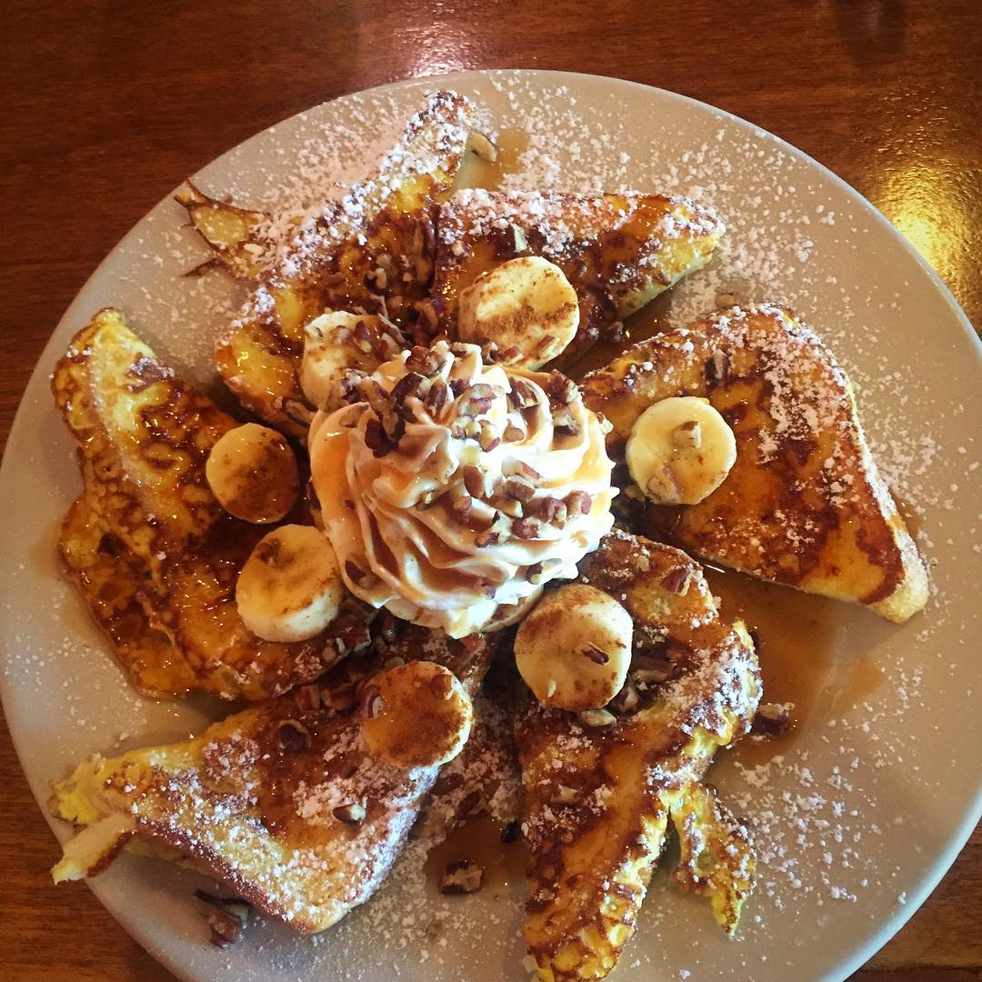 This was breakfast. Awesome Banana Fosters French toast.