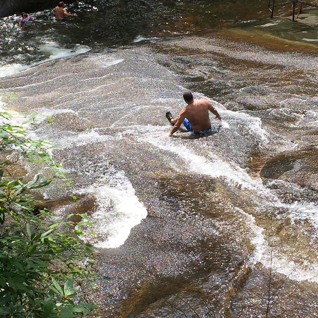 Asheville Parks - Sliding Rock at Pisgah National Forest - Original Photo