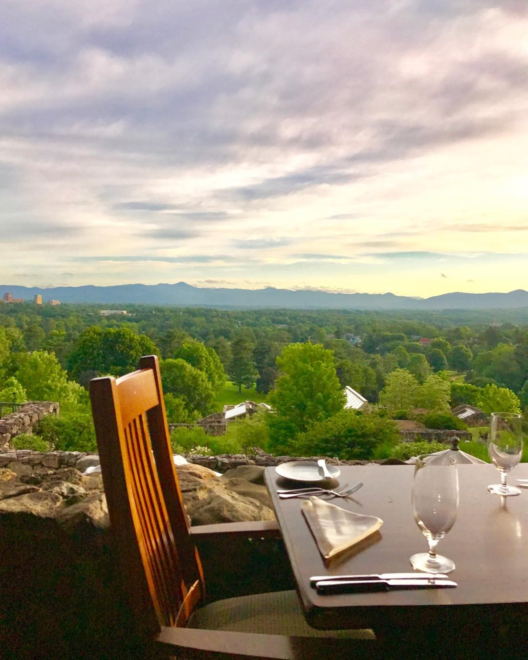 Asheville Restaurants - Sunset Terrace - Original Photo