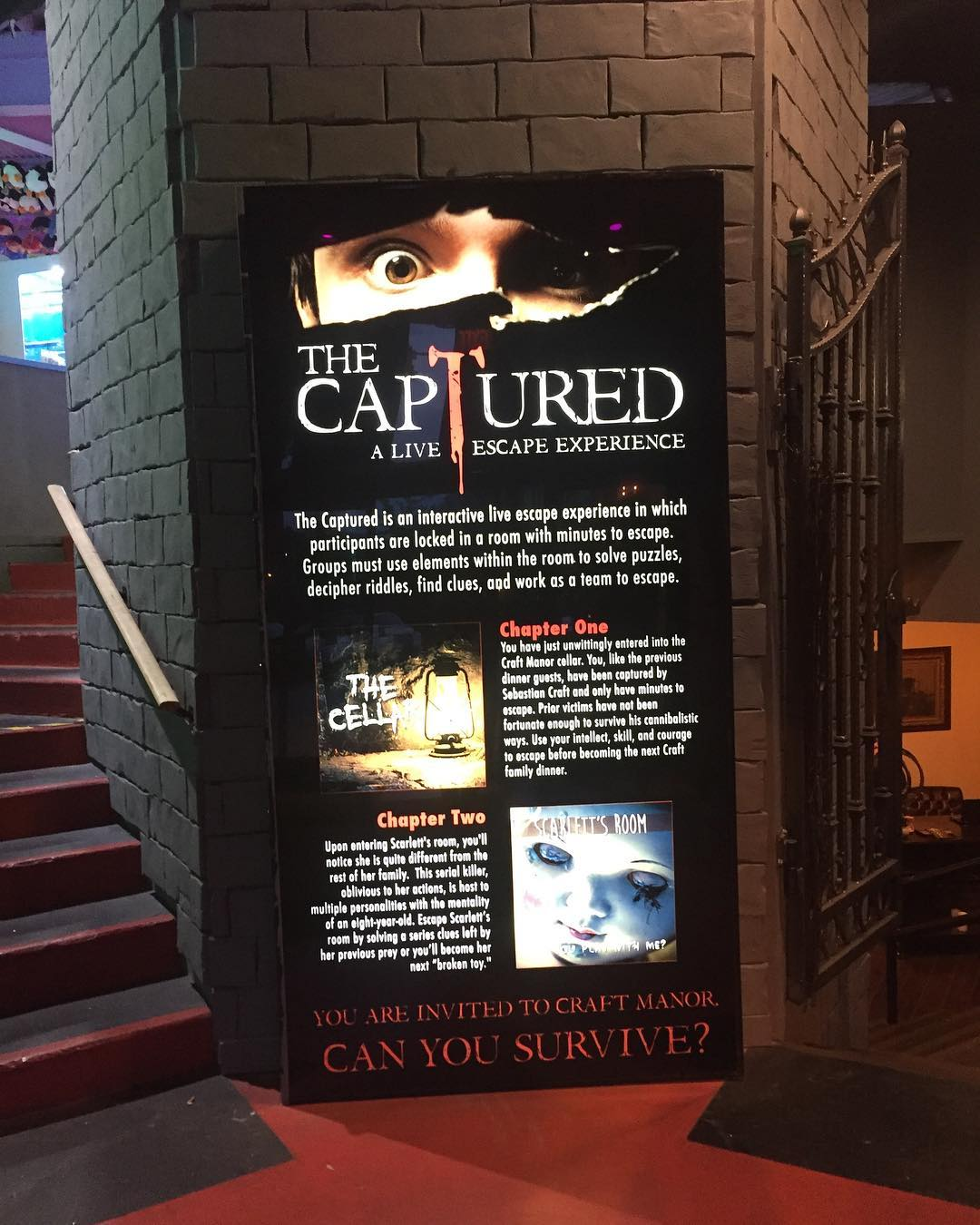 Gatlinburg Things To Do - The Captured – A Live Escape Experience - Original Photo