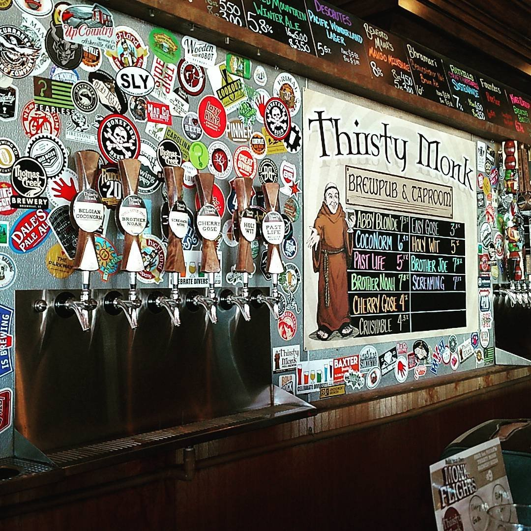 Asheville Breweries - Thirsty Monk Biltmore - Original Photo