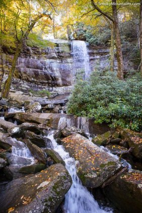 National Park - Rainbow Falls Trail to Mount LeConte