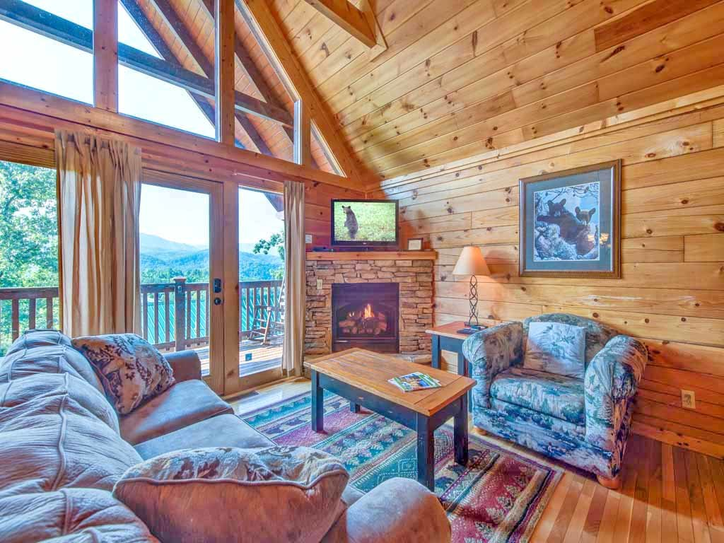 Photo of a Gatlinburg Cabin named Fireside View - This is the first photo in the set.