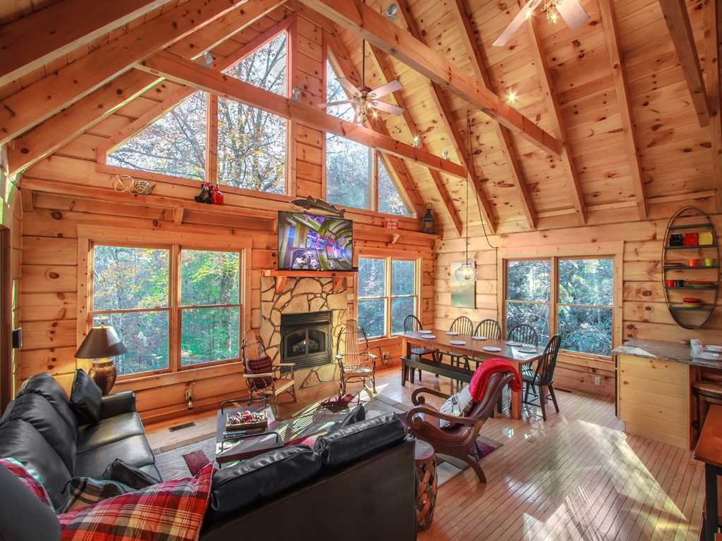 Photo of a Gatlinburg Cabin named Lazy Bear Lodge - This is the third photo in the set.