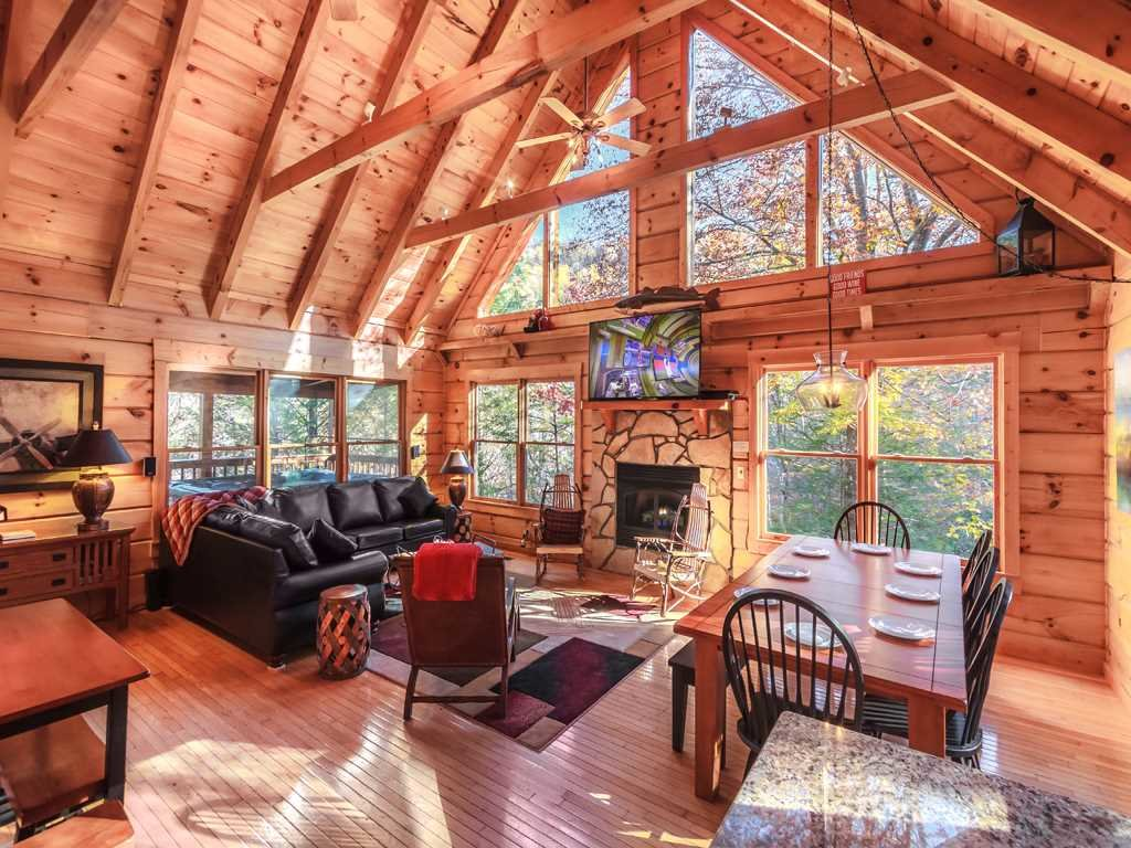 Photo of a Gatlinburg Cabin named Lazy Bear Lodge - This is the first photo in the set.