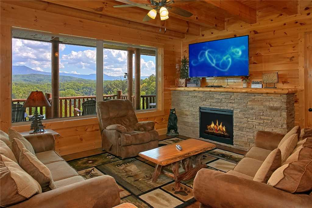 Photo of a Pigeon Forge Cabin named Awesome View Lodge - This is the second photo in the set.