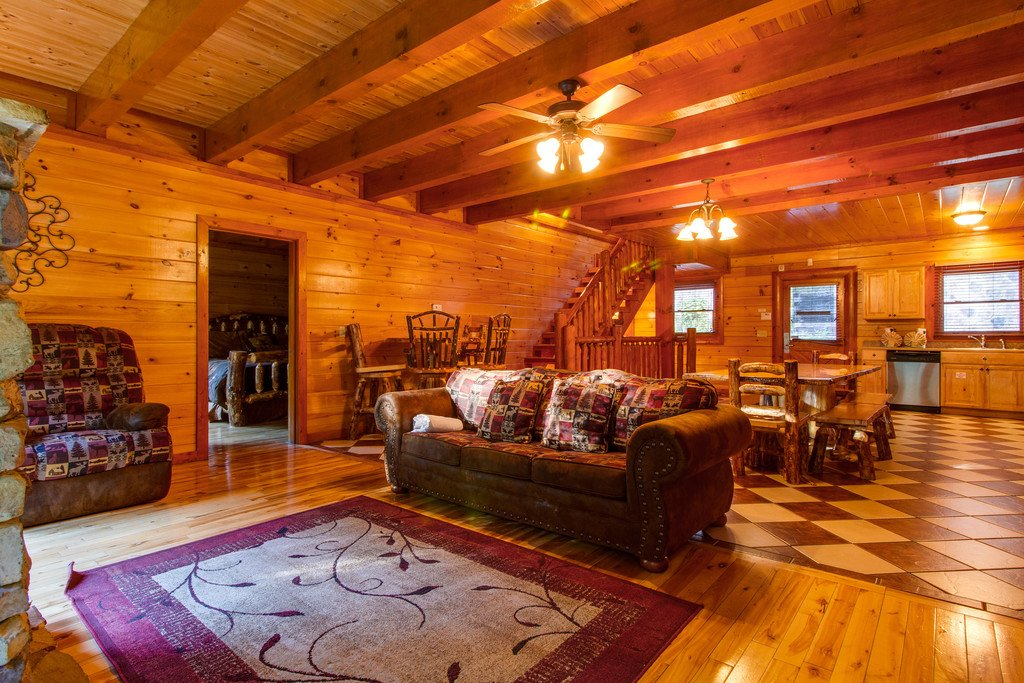 Photo of a Pigeon Forge Cabin named Rustic Cinema Lodge - This is the third photo in the set.