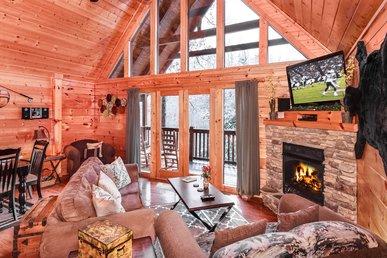 Smoky Bear Lodge, 4 Bedrooms, Mountain View, Hot Tub, Arcade, Sleeps 14