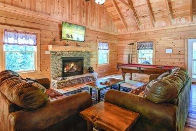 Bear Crossing, 1 Bedroom, Fireplace, Pool Table, Wifi, Mtn View, Sleeps 6