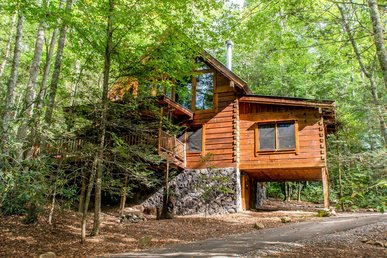 Secluded log cabin perfect for entire family