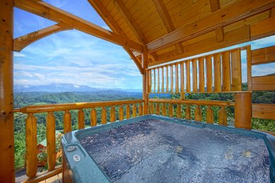 Spectacular Views from your 1 bedroom luxury cabin - 2 full baths sleeps 4
