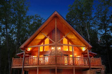 Luxury 4 Bedroom Gatlinburg Cabin with Private Home Theater Room