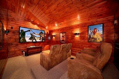 5 Bedroom Gatlinburg Cabin Rental with Home Theater Room