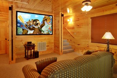3 Bedroom with your own private Home Theater room with 8 foot theater screen