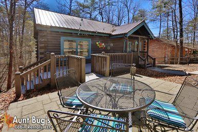 2 Bedroom Log Cabin 1 mile to Teaster Lane/Trolley Stop Pigeon Forge TN