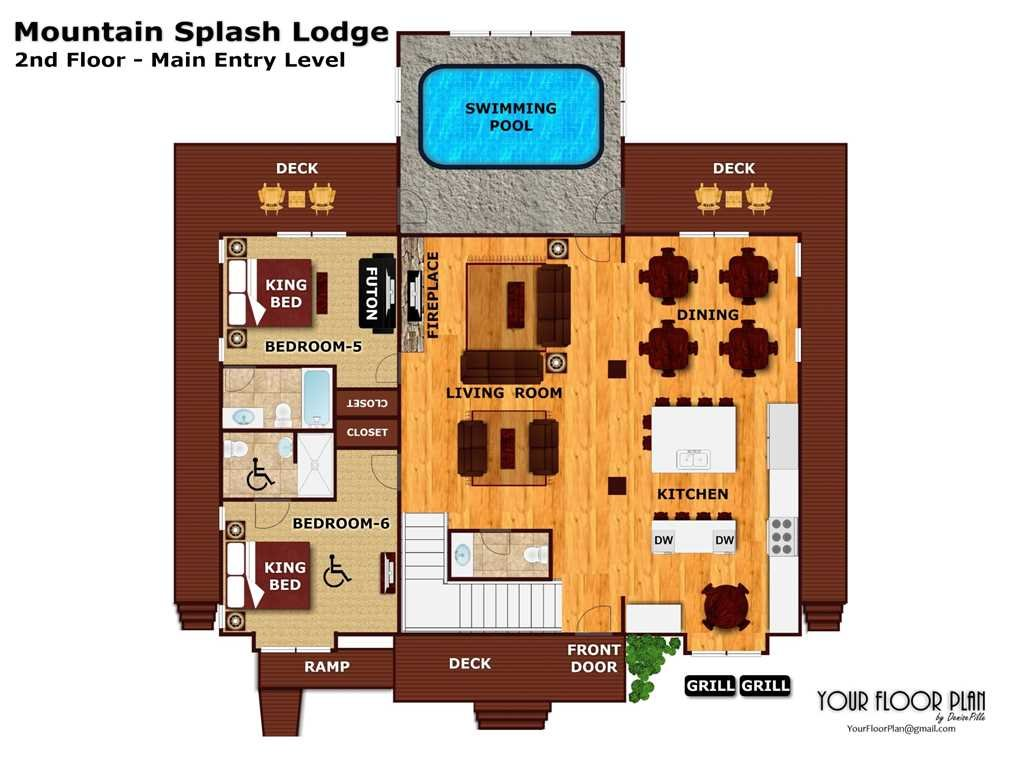 Photo of a Pigeon Forge Cabin named Mountain Splash Lodge - This is the fortieth photo in the set.