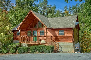 Smoky Mountain 4 Bedroom Cabin with Jacuzzi Tub, Hot Tub and Pool Access
