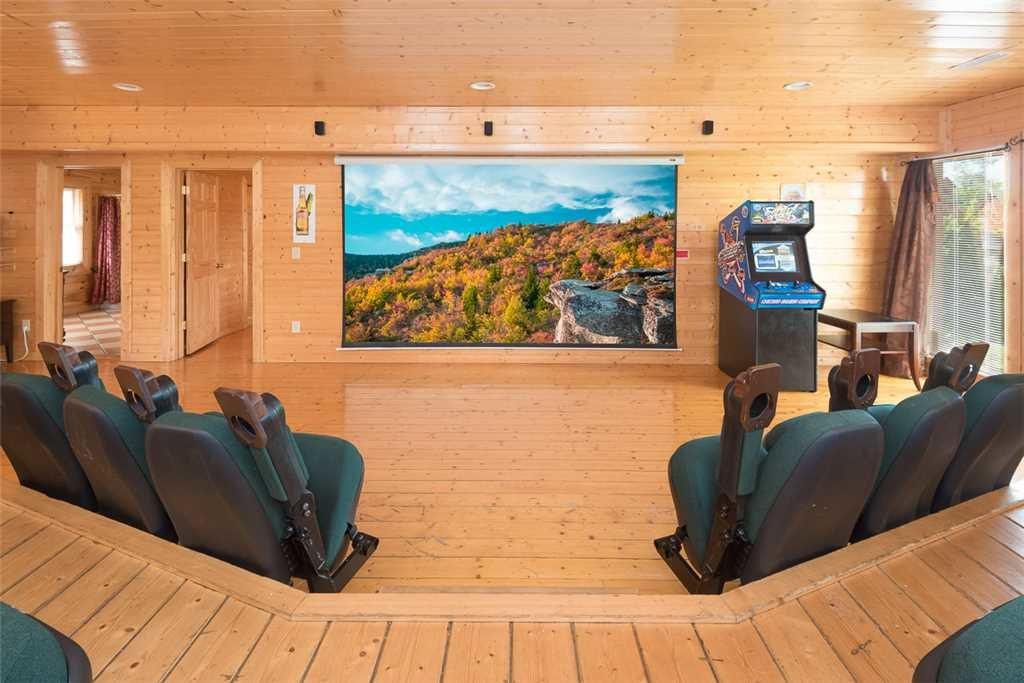 Photo of a Pigeon Forge Cabin named Home Theater Lodge - This is the first photo in the set.