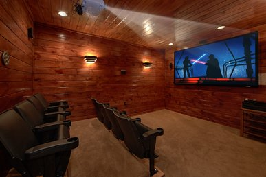 3 Master Suite Cabin with Private Home Theater Room and Sauna