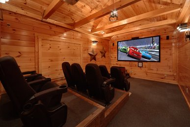 5 Bedroom Gatlinbug Cabin with Home Theater Room - 9 Foot Theater Screen