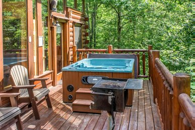 Lovely Cabin with wrap around deck tucked in the woods for true nature lovers