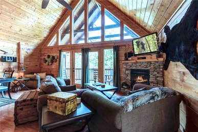 Smoky Bear Lodge, 4 Bedrooms, Mountain View, Hot Tub, Arcade, Sleeps 14