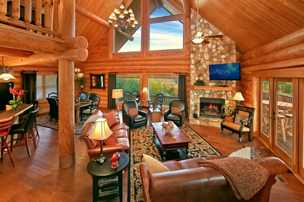 Photo of a Pigeon Forge Cabin named Mountaintop Paradise - This is the first photo in the set.