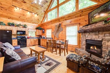 Cabin Of Dreams, 3 Br, Water View, Jetted Tub, Hot Tub, Pool Table, Sleep 6