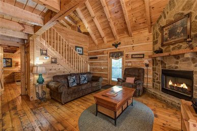 vacation rental view picture hot cabin bedroom mountains gatlinburg smoky with and tub rustic jacuzzi in private property seasons