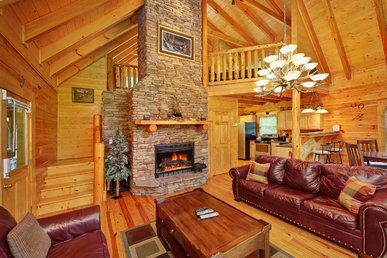 New 2 Bedroom Luxury Cabin In Gatlinburg