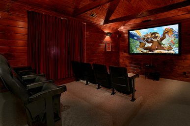 5 Bedroom Luxury Gatlinburg Cabin With Home Theater Room
