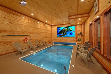 Brand New Luxury Cabin With Private Indoor Pool And Theater