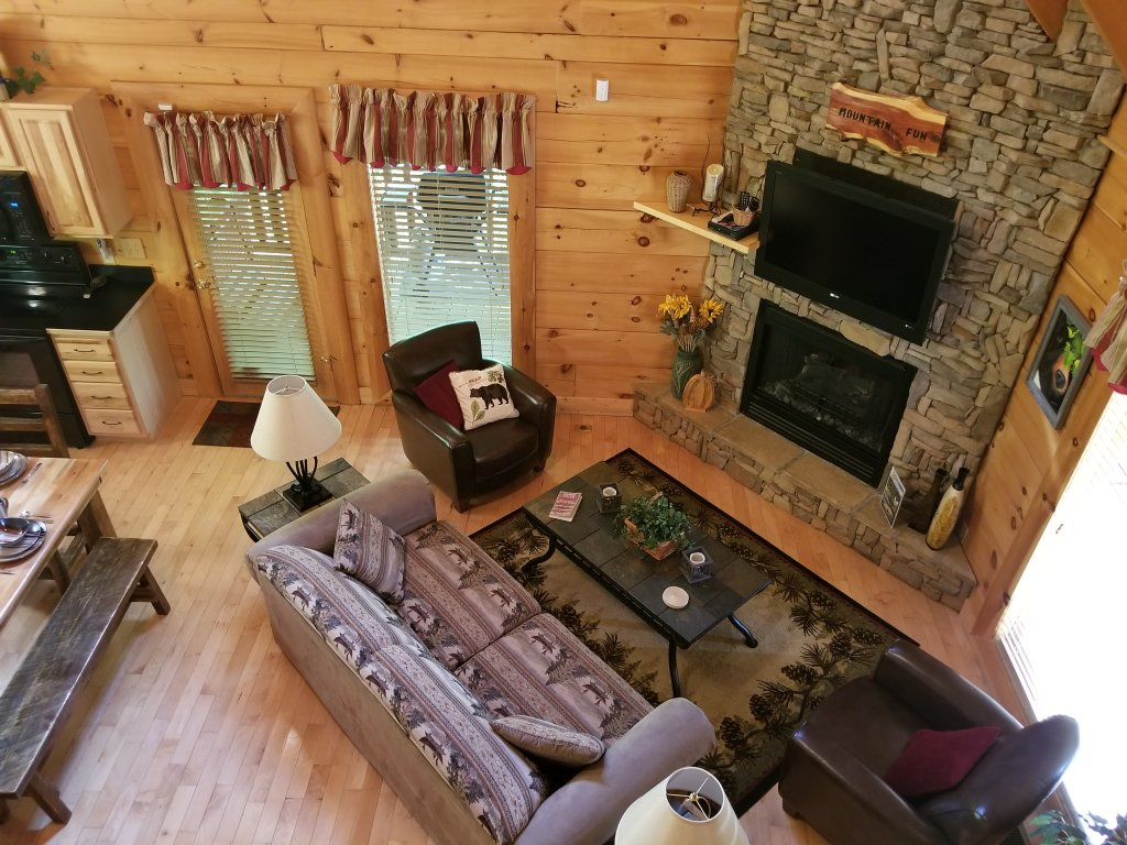 forge pool rentals in lodge with outdoor view located of cabins pigeon grand cabin bedroom