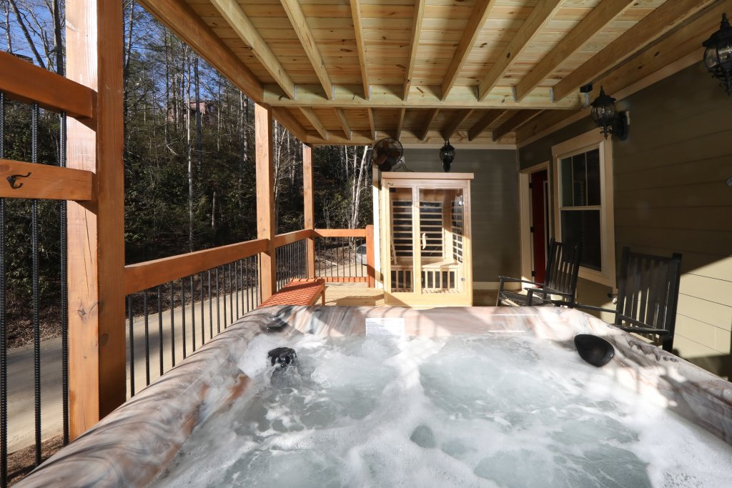 Photo of a Gatlinburg Cabin named Splash Time Cinema - This is the eighth photo in the set.