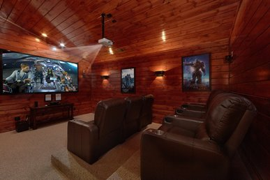 5 Bedroom Gatlinburg Cabin Rental With Home Theater Room