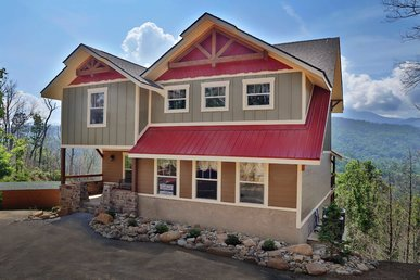 Above It All Is A 4 Bedroom Cabin Designed With Family Fun In Mind.
