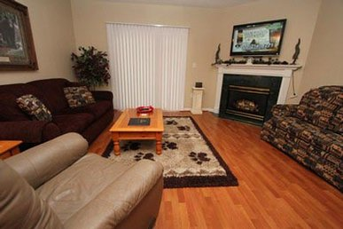 Leather Furniture • Private Balcony Overlooking Pigeon Forge