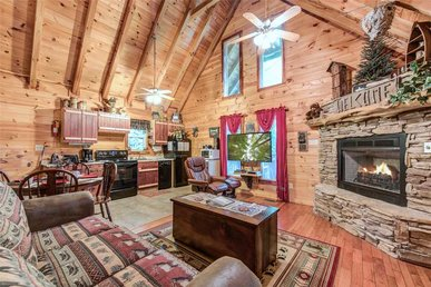 Whispering Secrets, 1 Bedroom, Creekside, Fireplace, Hot Tub, Sleeps 2