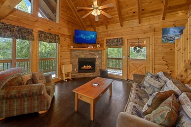 Smoky Mountain 2 Bedroom Cabin With Mountain Views, Jacuzzi Tub And Hot Tub